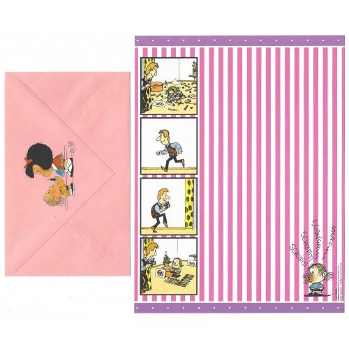 Ano 1991. Conjunto de Papel de Carta IMPORTADO Mafalda CLI