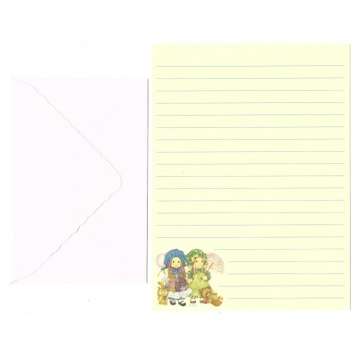 Conjunto de Papel de Carta ANTIGO Holly Hobbie - M59