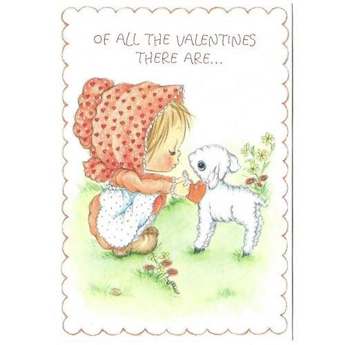 Ano 1973. Cartão ANTIGO Importado Betsey Clark Valentines CLA Hallmark