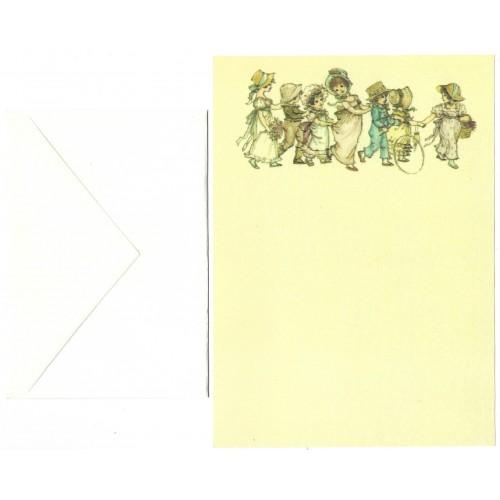 Conjunto de Papel de Carta Antigo Importado Lady CBR