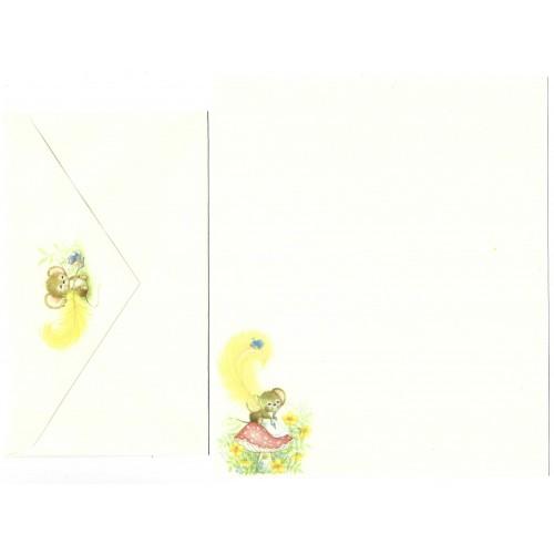 Conjunto de Papel de Carta Antigo Importado Mouse 4 - Hallmark