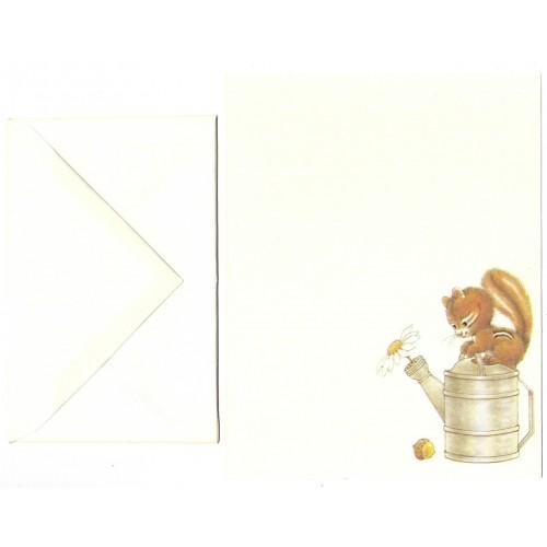 KIT de Papéis de Carta & POSTCARDS Antigo Importado Cute 'n' Carefree
