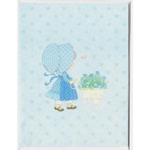 Notelette Antigo Importado Menininha BLUE - Hmk