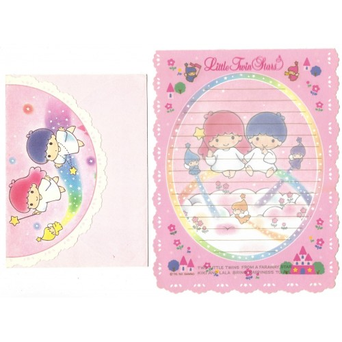 Ano 1992. Conjunto de Papel de Carta Little Twin Stars Faraway Star