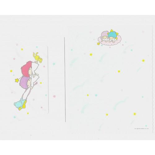 Ano 1976. Conjunto de Papel de Carta Little Twin Stars Moon CAZ Sanrio