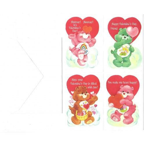 Kit 4 Mini-Cartões de Mensagem Valentines Ursinhos Carinhosos4