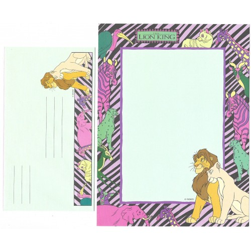 Conjunto de Papel de Carta ANTIGO Personagens Disney Lion King CVD