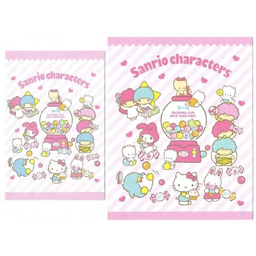 Ano 2019. Conjunto de Papel de Carta Hello Kitty & Sanrio Characters