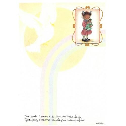 Papel de Carta Arco Iris 09
