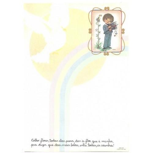 Papel de Carta Arco Iris 10