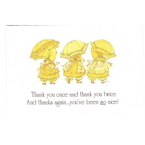 Notelette Antigo Importado Sun Bonnet Yellow - American Greetings