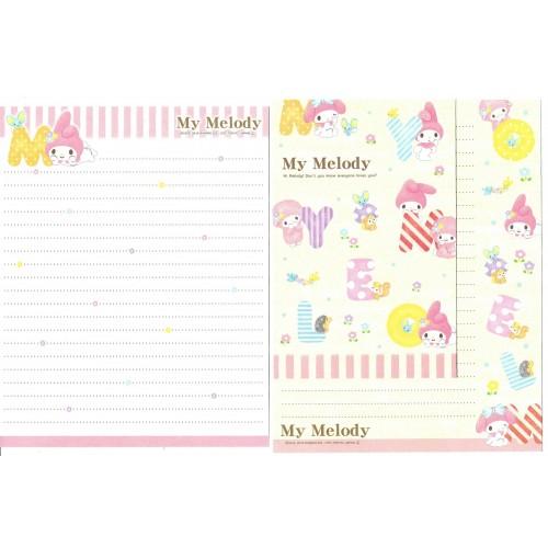 Ano 2014. Kit 2 Conjuntos de Papel de Carta My Melody Hi Melody Sanrio