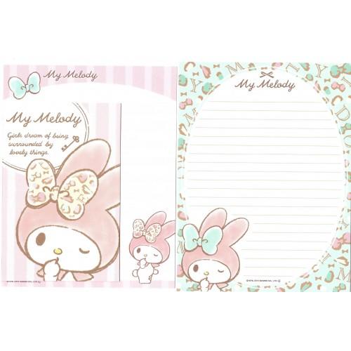 Ano 2014. Kit 2 Conjuntos de Papel de Carta My Melody Dreams Sanrio