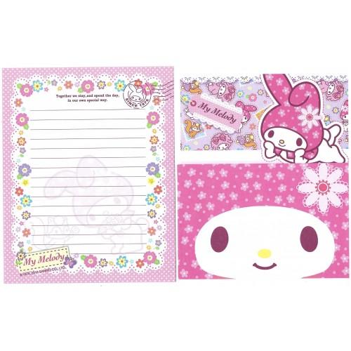 Ano 2013. Conjunto de Papel de Carta My Melody Sanrio