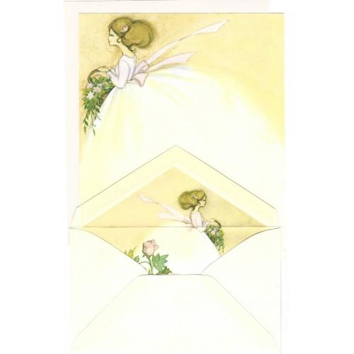 Conjunto de Papel de Carta Antigo Importado Bride Hallmark