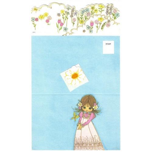 Postalete Antigo Importado Flower Daisy - A.G.