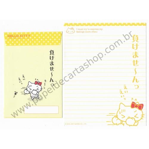 Ano 2007. Conjunto de Papel de Carta Hello Kitty Feelings FCAM Sanrio