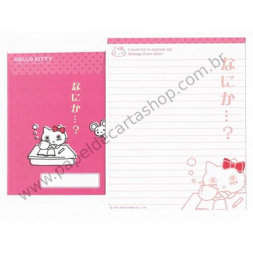 Ano 2007. Conjunto de Papel de Carta Hello Kitty Feelings FCRS Sanrio