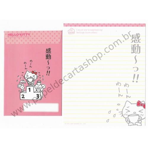 Ano 2007. Conjunto de Papel de Carta Hello Kitty Feelings FCRS2 Sanrio