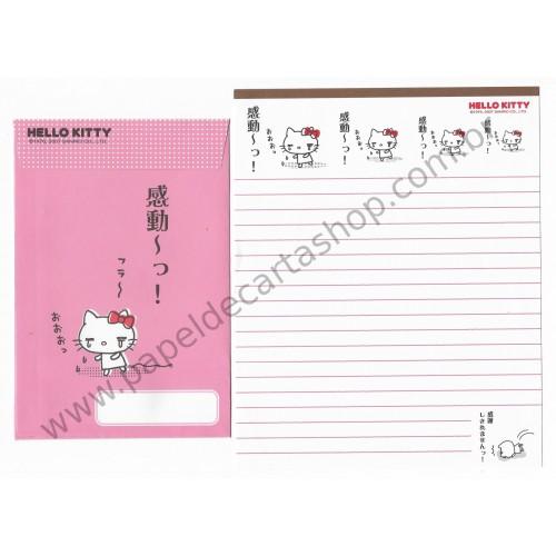 Ano 2007. Conjunto de Papel de Carta Hello Kitty Feelings FCMA Sanrio