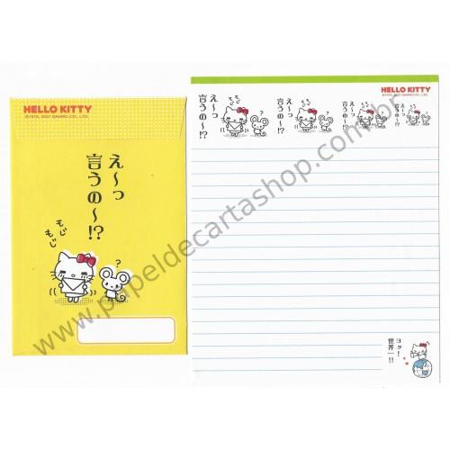 Ano 2007. Conjunto de Papel de Carta Hello Kitty Feelings FCAM2 Sanrio