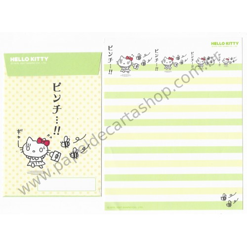 Ano 2007. Conjunto de Papel de Carta Hello Kitty Feelings FCVD3 Sanrio