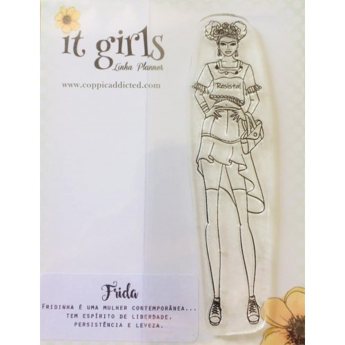 Carimbo It Girl Linha Planner - Frida - Lilipop Carimbos
