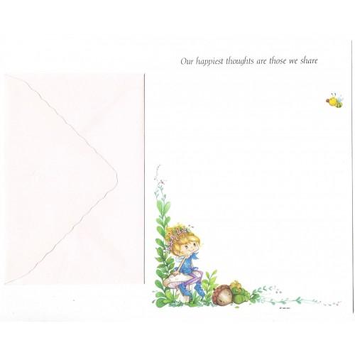 Conjunto de Papel de Carta Antigo Importado Herself the Elf RS