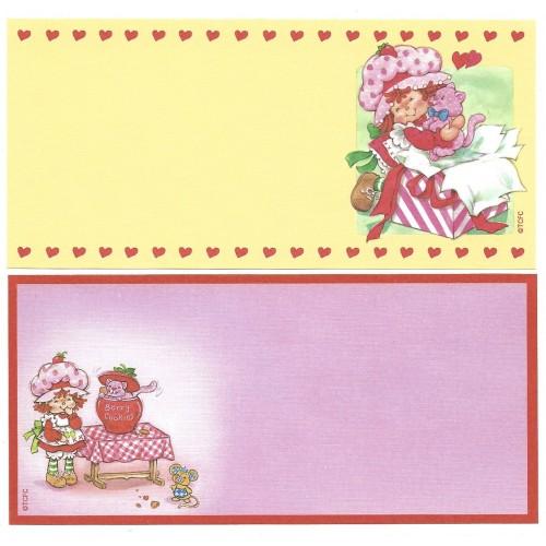 Ano 2003. Kit 4 NOTAS GRANDES Importadas Moranguinho Strawberry Shortcake L1