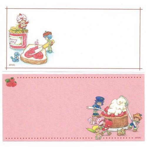 Ano 2003. Kit 4 NOTAS GRANDES Importadas Moranguinho Strawberry Shortcake L2