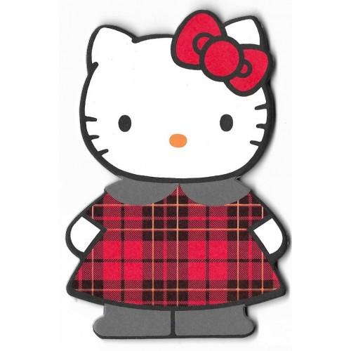 Ano 1996. NOTA Hello Kitty TARTAN Antigo (Vintage) Sanrio