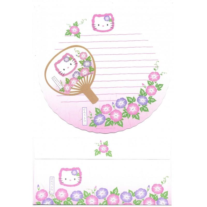 Ano 2002. Conjunto de Papel de Carta Regional Kitty Sanrio