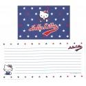 Ano 2000. Conjunto de Papel de Carta Hello Kitty Star Sanrio