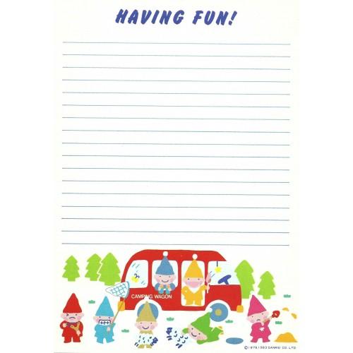 Ano 1983. Papel de Carta Seven Silly Dwarfs AVULSO Vintage Sanrio