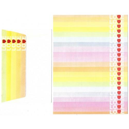 Conjunto de Papel de Carta Love