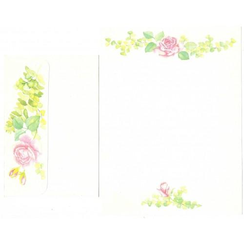 Conjunto de Papel de Carta Rosas