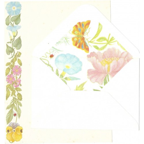Conjunto de Papel de Carta Flores (COR)