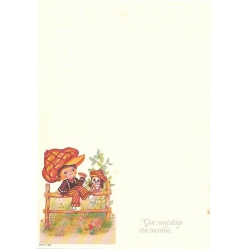 Papel de Carta Antigo Menininhas 35-11