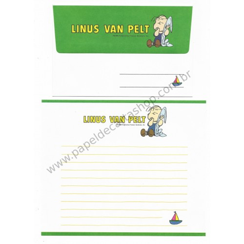 Conjunto de Papel de Carta Snoopy & Turma CVD Vintage Peanuts
