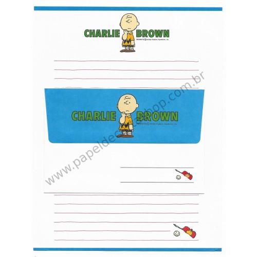 Conjunto de Papel de Carta Snoopy & Turma CAZ Vintage Peanuts