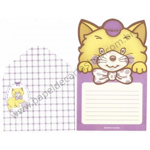 Conjunto de Papel de Carta Antigo Sunny & Candy (Cat)