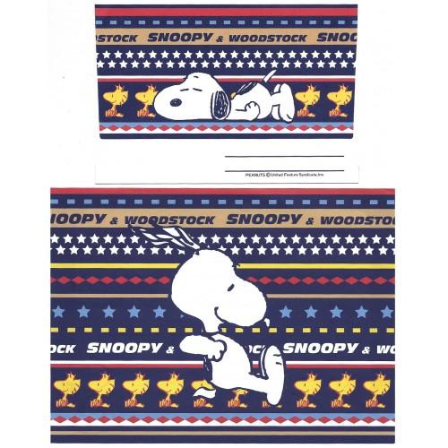 Conjunto de Papel de Carta Snoopy Antigo (Vintage) SLEEPY Peanuts