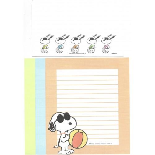 Conjunto de Papel de Carta Snoopy JOE COOL Antigo (Vintage) Hallmark