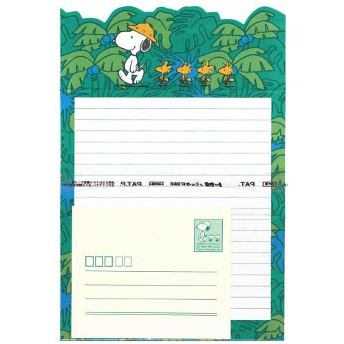 Conjunto de Papel de Carta Snoopy PAT Vintage Hallmark Japan