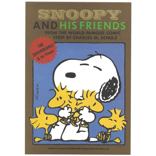 Conjunto de Papel de Carta Snoopy and HIS FRIENDS CBR Vintage Hallmark