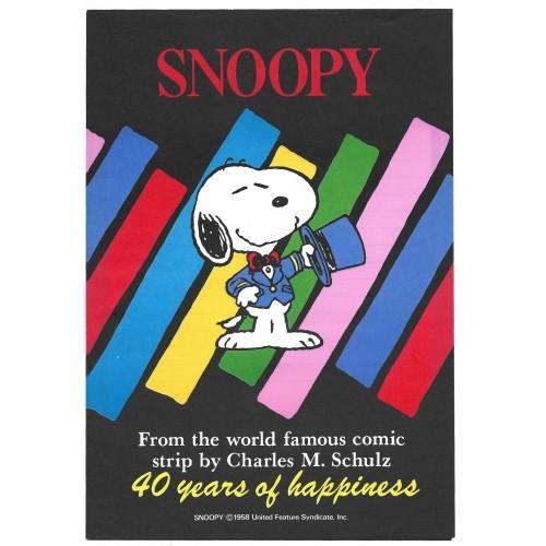 Conjunto de Papel de Carta Snoopy Happiness 40 Anos Vintage Hallmark
