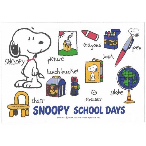 Conjunto de Papel de Carta Snoopy School Days Vintage Hallmark