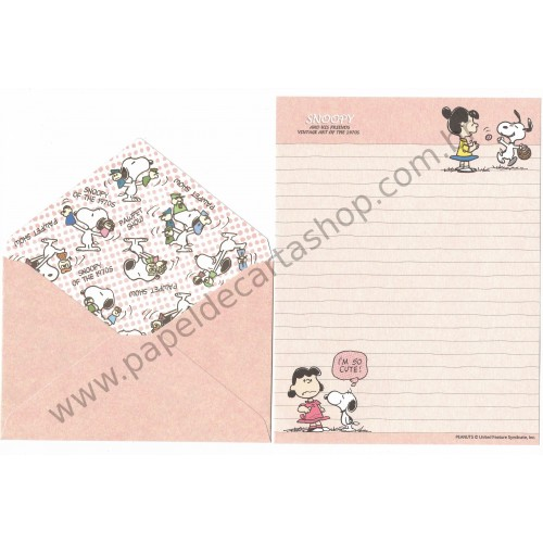 Conjunto de Papel de Carta Snoopy & Friends Art of 70's CRS Peanuts