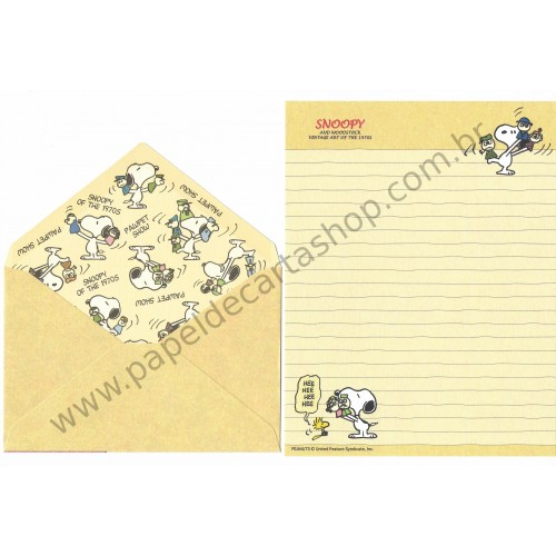 Conjunto de Papel de Carta Snoopy & Friends Art of 70's CRE Peanuts