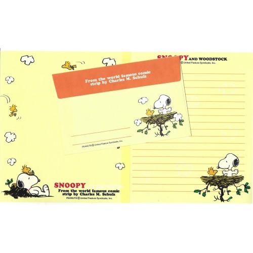 Conjunto de Papel de Carta SNOOPY CAM Vintage Hallmark